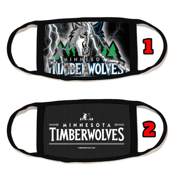 2 PACKS Minnesota Timberwolves  face mask